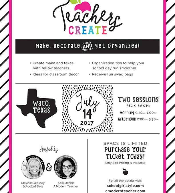 BIG Announcement!  Teachers CREATE!