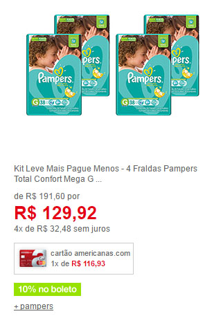 fralda pampers g