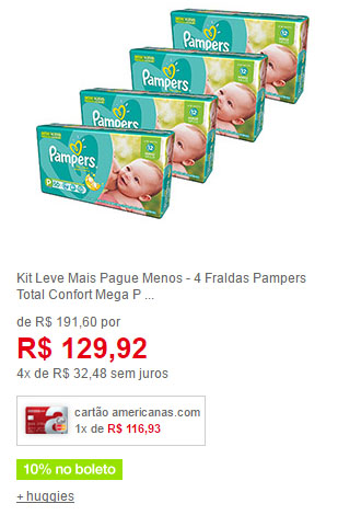fralda pampers p