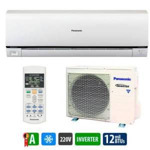 Ar Condicionado Split Inverter Panasonic Econavi Só Frio High Wall 12.000 Btus C/ Sensor Csps12pkv71