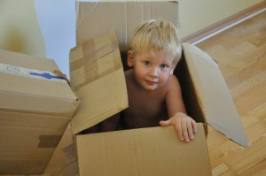 children in a box