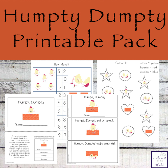 Humpty Dumpty Mini Book