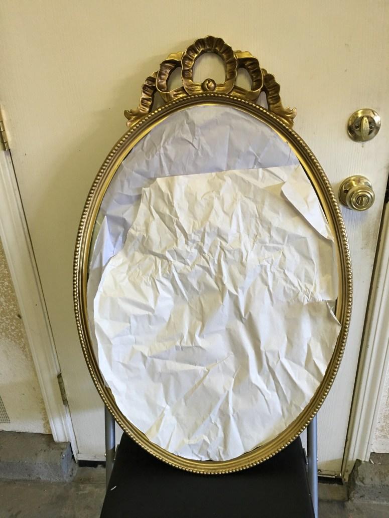 Thrift Store Ornate Mirror