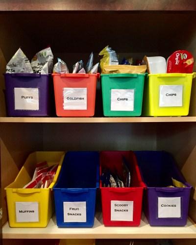 Pantry Storage with Magazine Bins