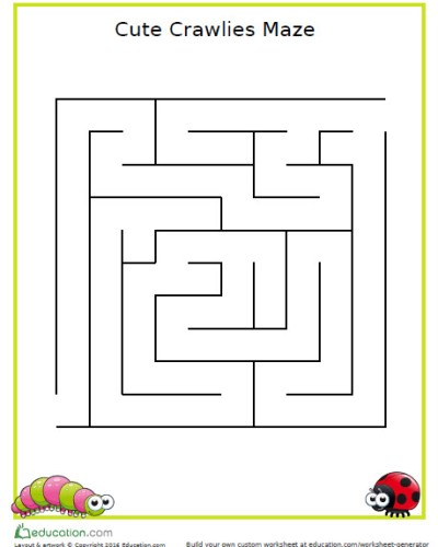 Kid's Activity: Maze Printouts
