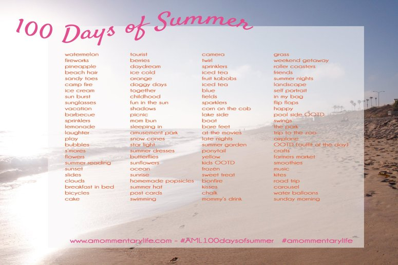 100 Days of Summer Photo List