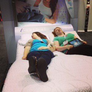 Napping with Serta at BlogHer 13
