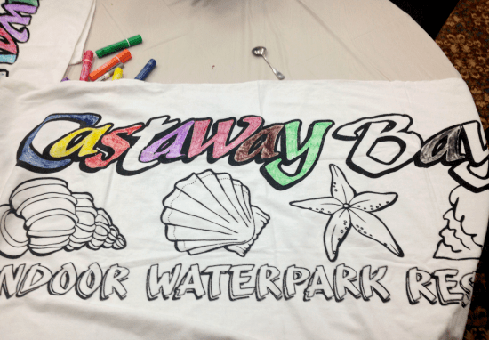 Coloring beach towels
