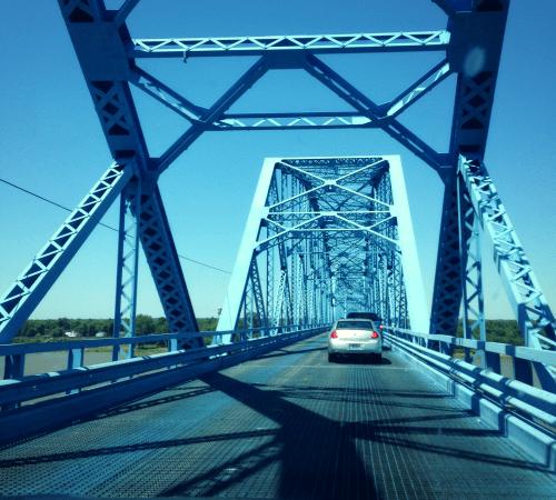 Scary bridge over the Ohio river
