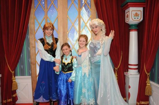 Anna, Anna, Elsa, and Elsa