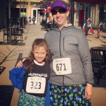 Before Mira's first 5k