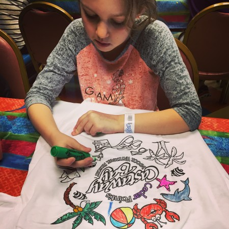 Camp Snoopy t-shirt coloring