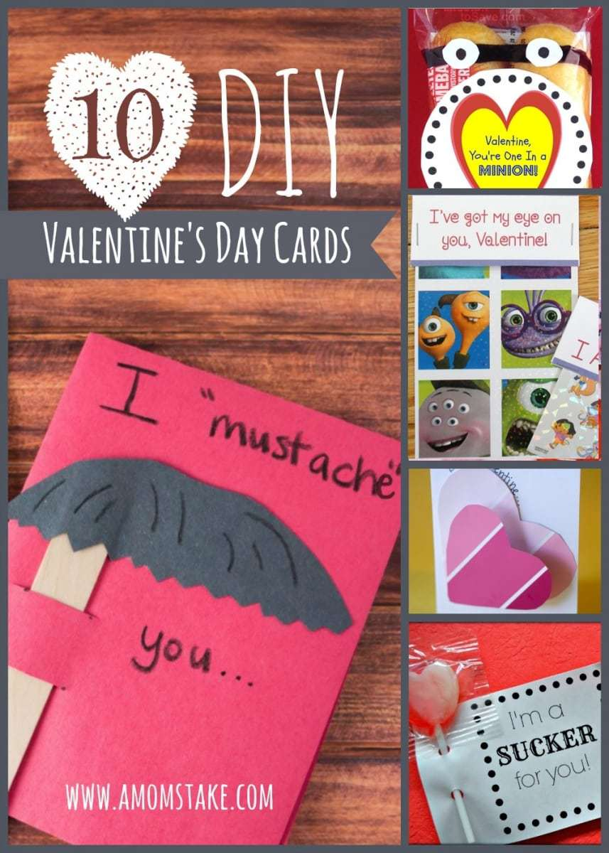 10 DIY Valentines Day Cards A Moms Take