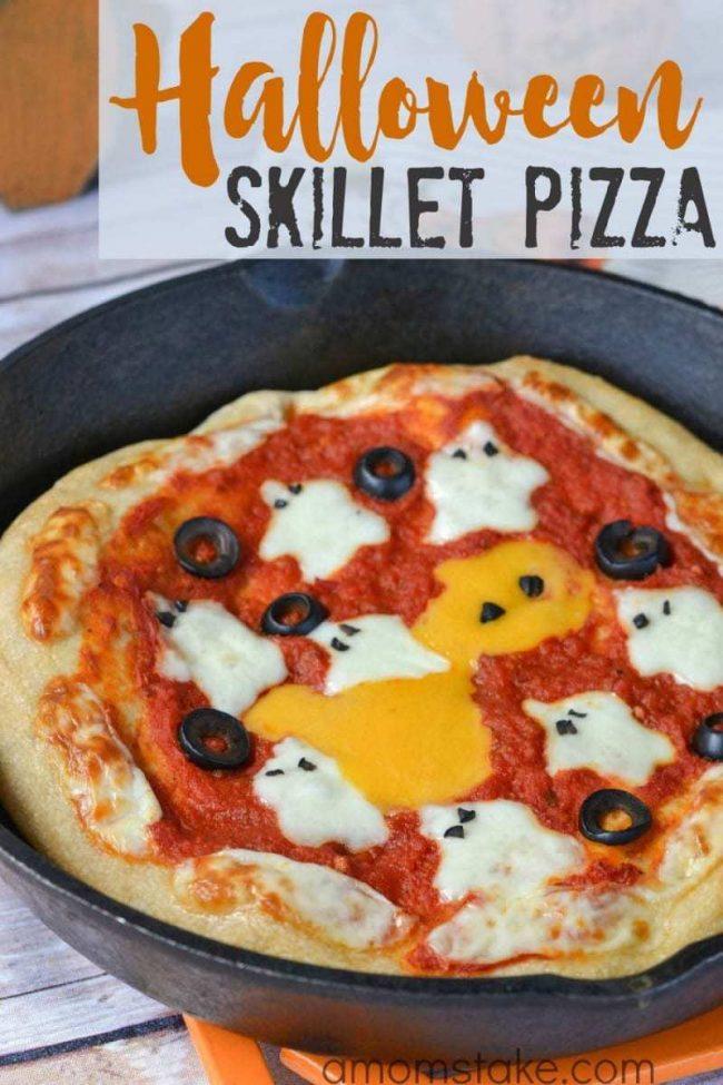 Halloween Skillet Pizza