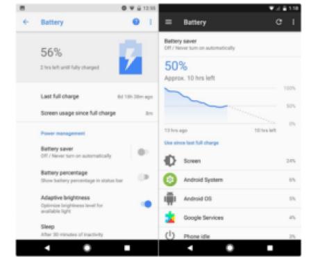 Perbedaan Visual Android Nougat dengan Android Oreo
