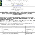 Perubahan Jadwal Pelaksanaan Seleksi CPNS Kemenkumham 2018