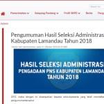 Jadwal dan Lokasi Tes Kompetensi Dasar CPNS Kabupaten Lamandau Tahun 2018
