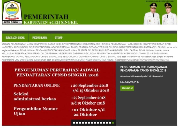 Hasil SKD dan Peserta Lulus SKB CPNS 2018 Kabupaten Aceh Singkil
