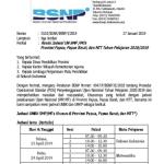Revisi Jadwal UN SMP MTs Provinsi Papua, Papua Barat, dan NTT 2019
