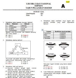 Download Latihan Soal Try Out UCUN DKI Jakarta SMP MTs Tahun 2019