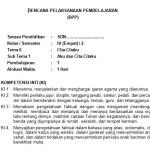 Download RPP Kelas 4 SD Kurikulum 2013 Edisi Revisi 2018 Semester 2