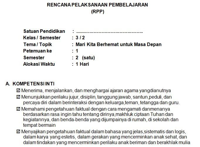 Download RPP Kelas 3 SD Kurikulum 2013 Edisi Revisi 2018 Tema 7