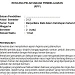 Download RPP Kelas 3 SD Kurikulum 2013 Edisi Revisi 2018 Tema 8