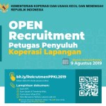 Rekruitmen Petugas Penyuluh Koperasi Lapangan PPKL Tahun 2019