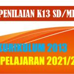 Format Penilaian Kurikulum 2013 K13 Kelas 1 2 3 4 5 6 SD MI Tahun 2021