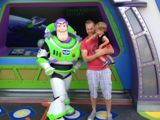 We met Buzz. Eli wanted to hit his buttons.