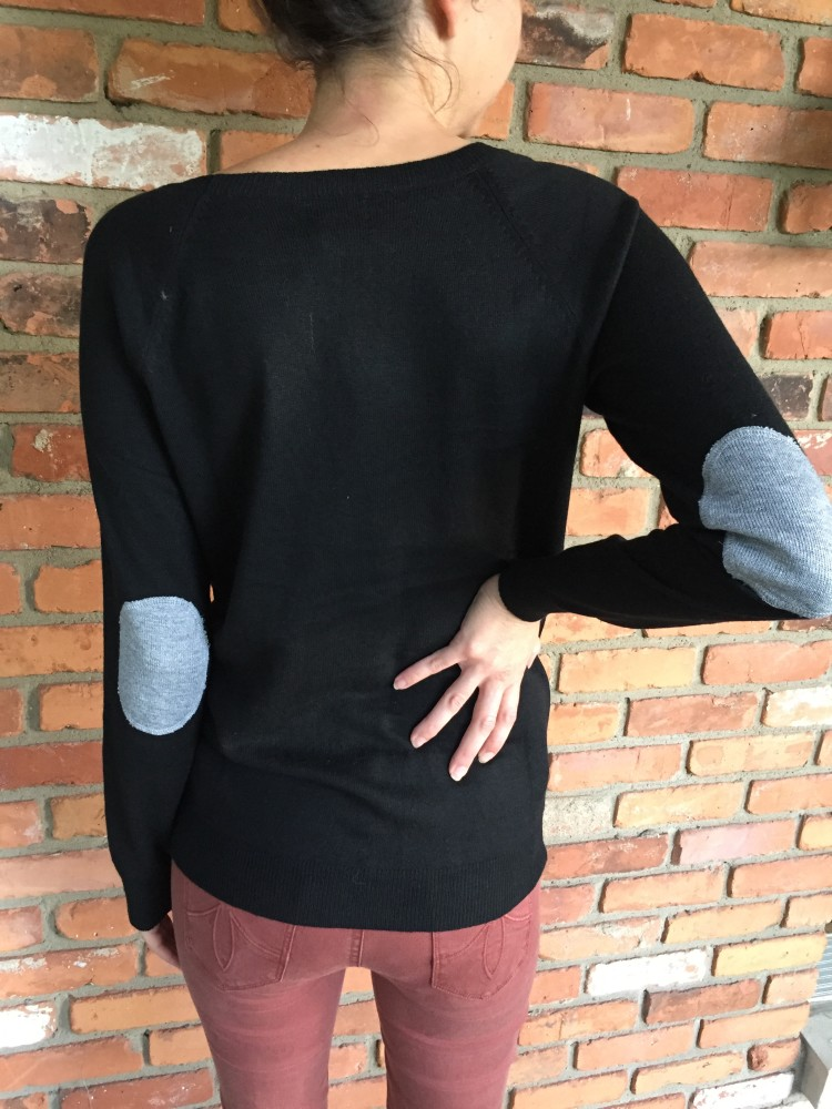Fiero Elbow Patch Crew Neck Sweater Market & Spruce // www.amonkeyandhismama.com