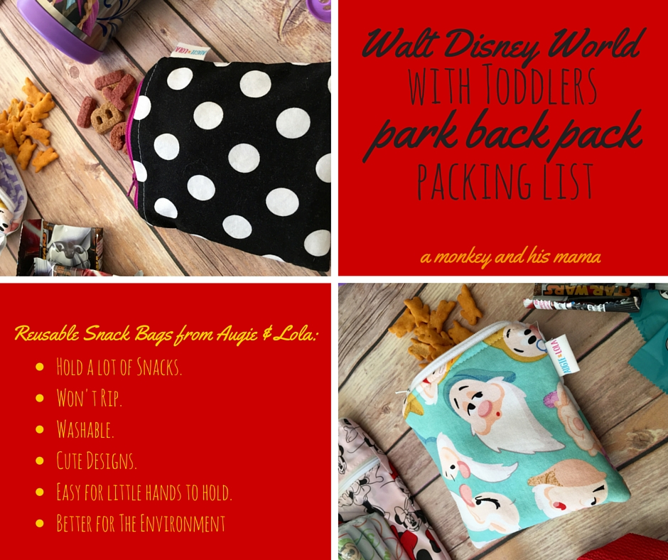 walt disney world with toddlers park back pack packing list // a monkey and his mama
