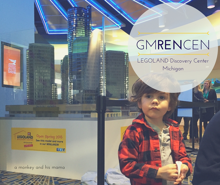 LEGOLAND discovery center michigan GMRENCEN unveiling // a monkey and his mama