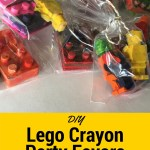 DIY Lego Crayon Party Favors.