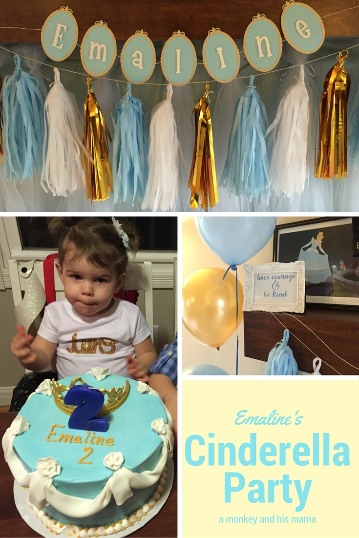 Emaline's Cinderella Birthday Party // a monkey and his mama