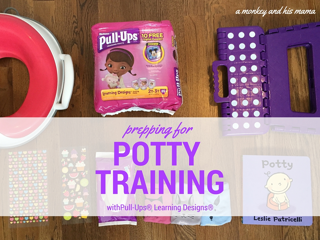 prepping for potty training with pull ups: signs of readiness and essentials // a monkey and his mama