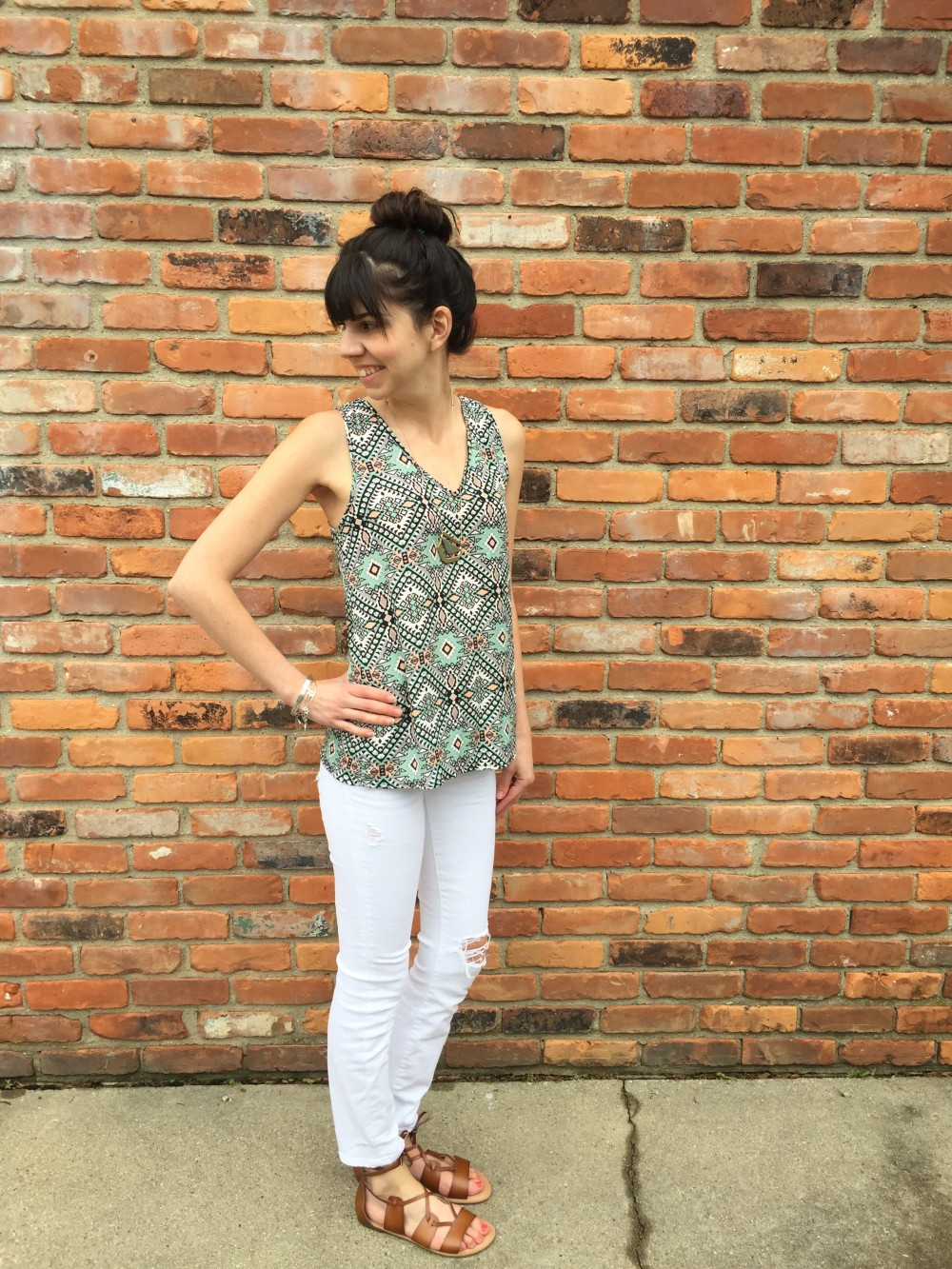Bosely V Neck, by Fun2Fun, from my May 2016 Stitch Fix // a monkey and his mama