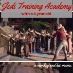 Jedi Training Academy with a 4 year old.