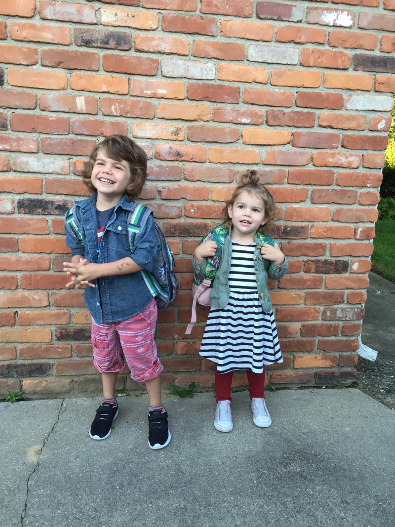 first day of preschool style // a monkey and his mama