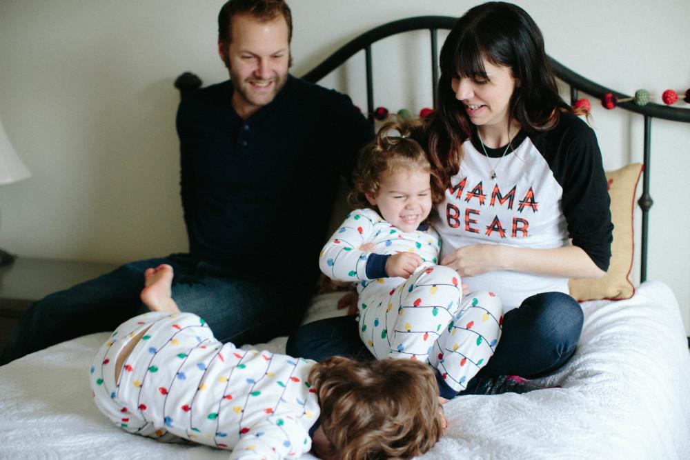 christmas pj photo session // a monkey and his mama