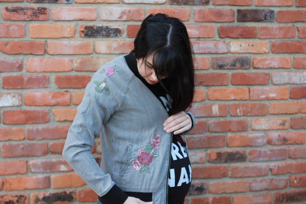 quincey reversible bomber jacket // february stitch fix // a monkey and his mama