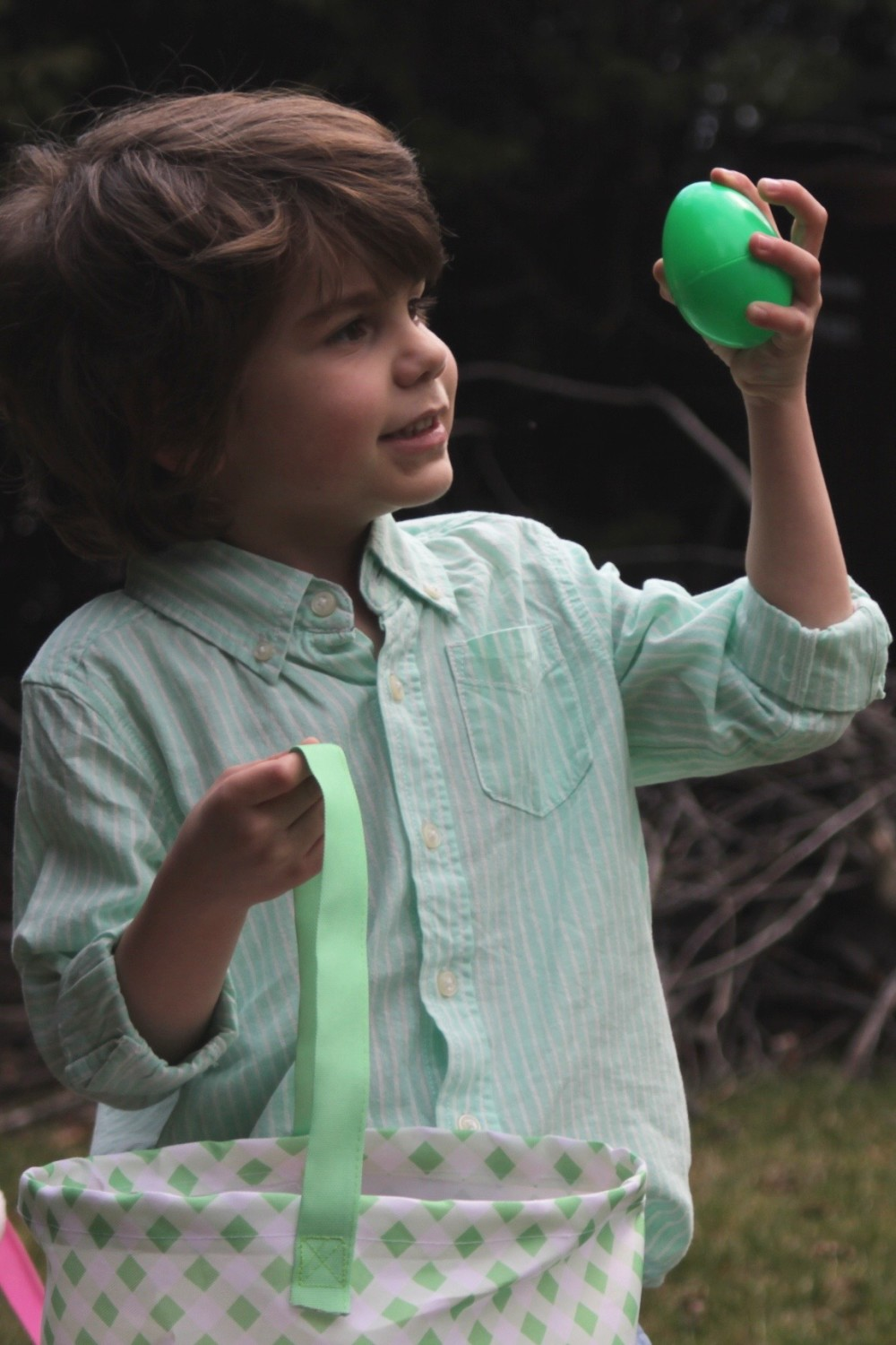 boy's mint button up for easter from oshkosh