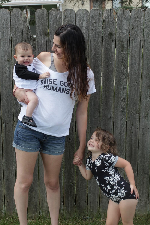 girl mama monochrome