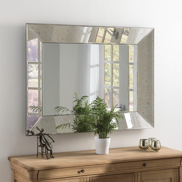 large rustic wood wall mirrors