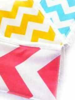 burp cloth tutorial - diaper burp cloth how to #sewing