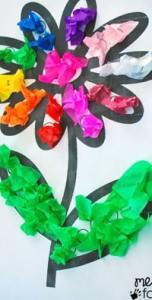 tissue paper flower - amorecraftylife.com