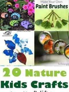 nature kid crafts- crafts for kids - amorecraftylife.com
