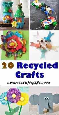 recycle kid crafts - crafts for kids - kid craft -#kidscraft #preschool #craftsforkids amorecraftylife.com