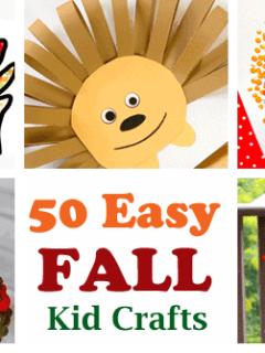 Fall Kid Crafts- easy autumn kid craft - leaves apples - pumpkins - fall tree - amorecraftylife.com #kidscrafts #craftsforkids #preschool