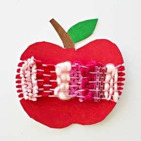 apple kid craft- amorecraftylife.com - fall kid craft - craft for kids